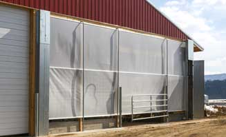 Center Roll Up Ag Curtains
