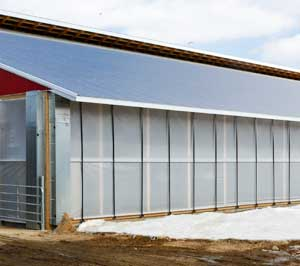 Double Roll Up Ag Curtains for Barn Ventilation